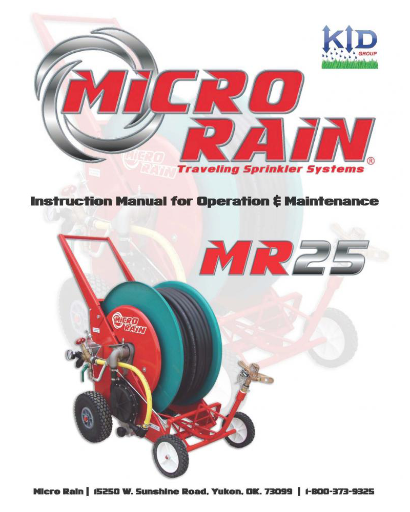 MR25 Operator's/Parts Manual