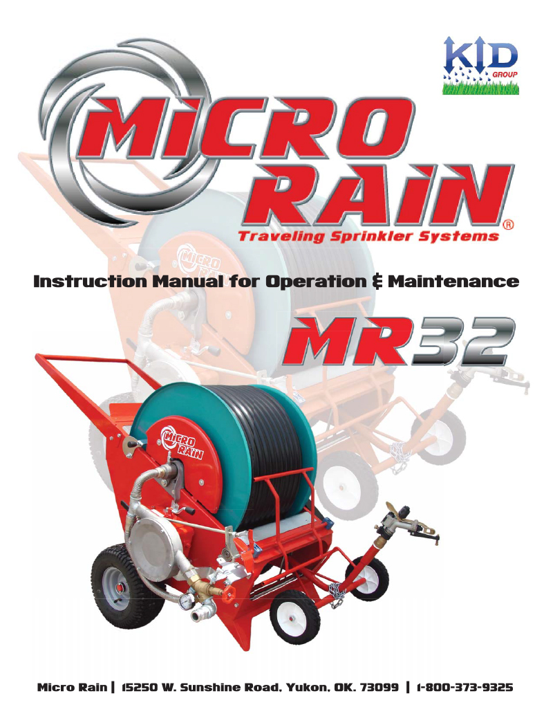 MR32 Operator's/Parts Manual